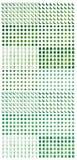 Insieme di colore verde tagliato elemento del Ramadan illustrazione di stock
