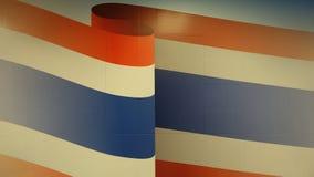 Insieme di colori della bandiera della Tailandia alla parete Fotografia Stock