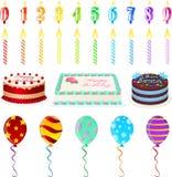 Insieme di compleanno Immagine Stock