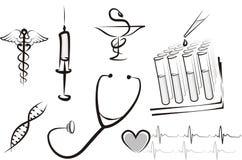 Insieme di concetto della medicina Immagine Stock Libera da Diritti
