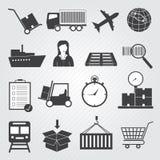 Insieme di consegna e logistico delle icone di vettore Fotografia Stock Libera da Diritti