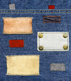 Insieme di contrassegni dei jeans Immagine Stock
