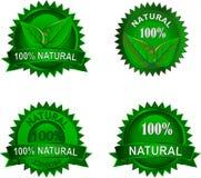 Insieme di contrassegni naturale di eco Fotografia Stock