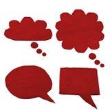 Insieme di conversazione della bolla fatto da rosso dell'argilla Fotografia Stock