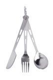 Insieme di corsa delle forchette, dei cucchiai e delle lame Immagine Stock