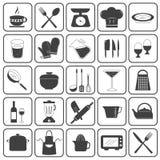 Insieme di cottura di base di vettore delle icone Fotografia Stock