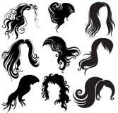 Insieme di designazione dei capelli Fotografia Stock