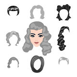 Insieme di designazione dei capelli biondi Fotografia Stock Libera da Diritti