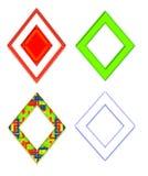 Insieme di Diamond Shaped Frames variopinto illustrazione di stock