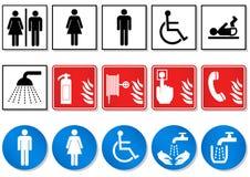 Insieme di disegno dei segni differenti di comunicazione. Immagine Stock Libera da Diritti