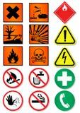Insieme di disegno dei segni internazionali differenti. Immagine Stock