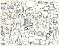 Insieme di disegno di Doodle del taccuino Immagini Stock Libere da Diritti
