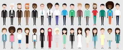 Insieme di diversa gente di affari Fotografia Stock