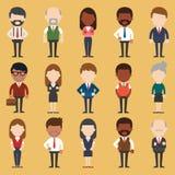Insieme di diversa gente di affari Stili del vestito e differenti Fotografia Stock