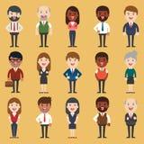Insieme di diversa gente di affari Stili del vestito e differenti Immagine Stock Libera da Diritti