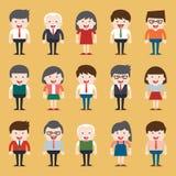 Insieme di diversa gente di affari Stili del vestito e differenti Fotografie Stock Libere da Diritti