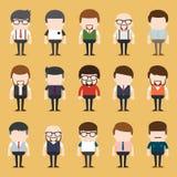 Insieme di diversa gente di affari Stili del vestito e differenti Fotografia Stock Libera da Diritti