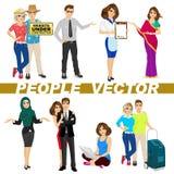 Insieme di diversi caratteri della gente royalty illustrazione gratis