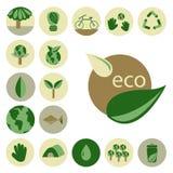 Insieme di Eco Immagini Stock