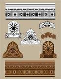 Insieme di elementi architettonico tradizionale Fotografia Stock
