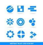 Insieme di elementi blu di logo dell'icona Immagine Stock Libera da Diritti