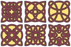 Insieme di elementi celtico di disegno Fotografie Stock