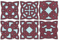 Insieme di elementi celtico di disegno Fotografie Stock Libere da Diritti