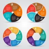 Insieme di elementi del cerchio di vettore per infographic Immagini Stock