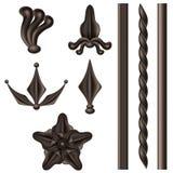 Insieme di elementi del ferro battuto Fotografia Stock