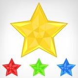 Insieme di elementi della stella di quattro colori isolato Fotografia Stock