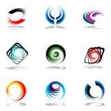Insieme di elementi di disegno. Fotografia Stock