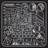 Insieme di elementi di Infographic Fotografia Stock