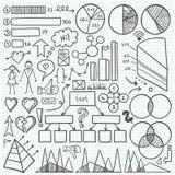 Insieme di elementi di Infographic Fotografie Stock Libere da Diritti