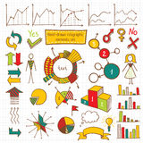Insieme di elementi di Infographic Immagini Stock