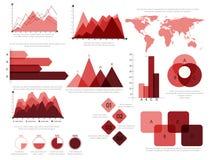 Insieme di elementi di Infographic di affari Fotografie Stock Libere da Diritti
