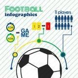 Insieme di elementi di infographics di calcio Fotografia Stock Libera da Diritti