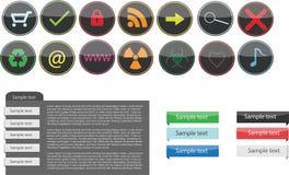 Insieme di elementi di web di vettore Fotografia Stock