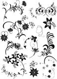 Insieme di elementi floreale royalty illustrazione gratis