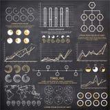 Insieme di elementi infographic creativo per l'affare royalty illustrazione gratis