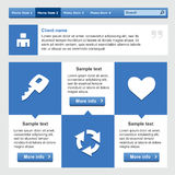 Insieme di elementi piano di web design Fotografie Stock Libere da Diritti