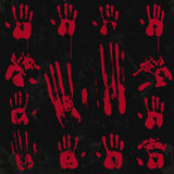 Insieme di elementi sanguinoso della stampa della mano 02 Fotografia Stock Libera da Diritti