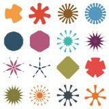 Insieme di elementi simmetrico di progettazione isolato, elementi di logo Immagini Stock Libere da Diritti