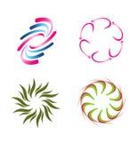 Insieme di elementi a spirale di logo Fotografia Stock Libera da Diritti
