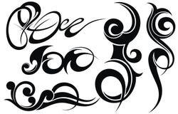 Insieme di elementi tribale di progettazione del tatuaggio immagini stock libere da diritti