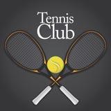 Insieme di elemento di disegno di tennis 1 Immagini Stock Libere da Diritti