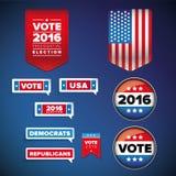 Insieme di elezioni presidenziali e di voto Fotografia Stock Libera da Diritti