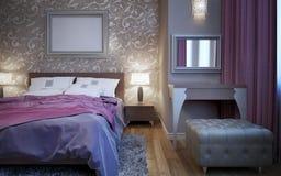 Insieme di esclusiva della mobilia della camera da letto Fotografie Stock