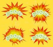 Insieme di esplosione del libro di fumetti Immagini Stock