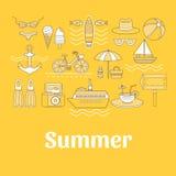 Insieme di estate Immagine Stock Libera da Diritti