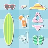 Insieme di estate della spiaggia Immagine Stock Libera da Diritti